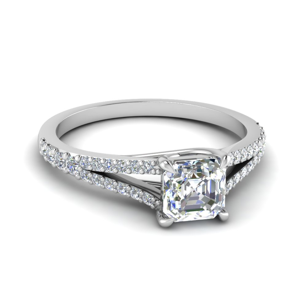 asscher cut lucida square split diamond ring in FD1027ASR NL WG
