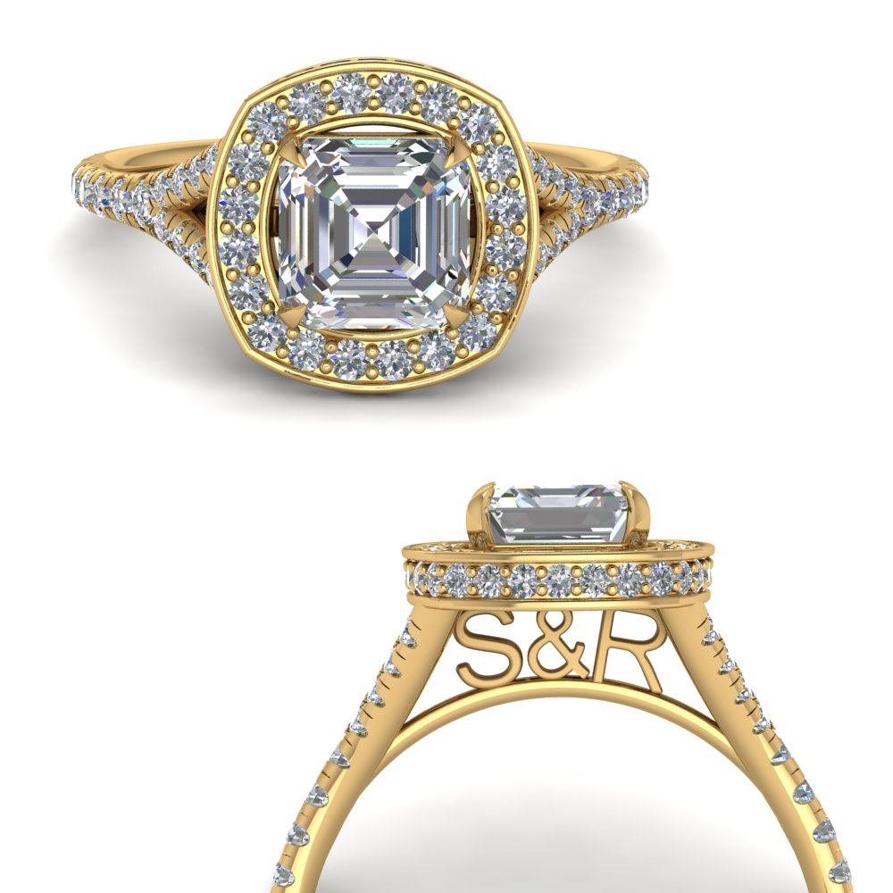 asscher-cut-personalized-under-halo-diamond-engagement-ring-in-FD9152ASRANGLE3-NL-YG