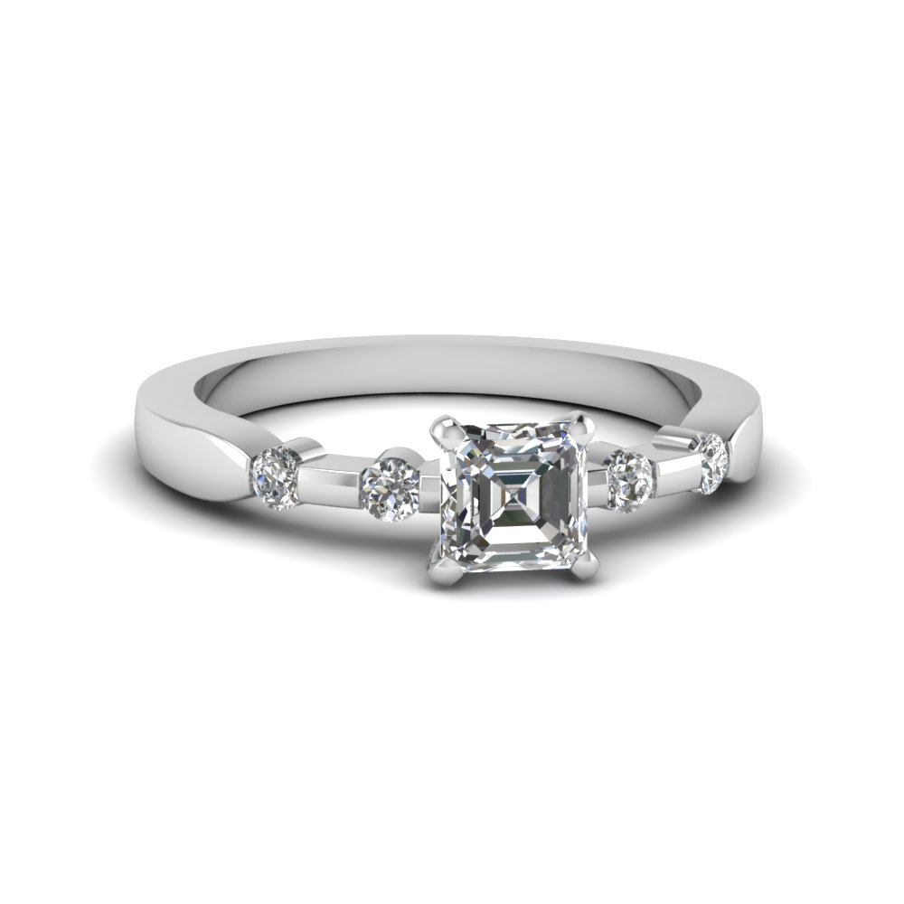 Petite Bezel Diamond Accent Ring