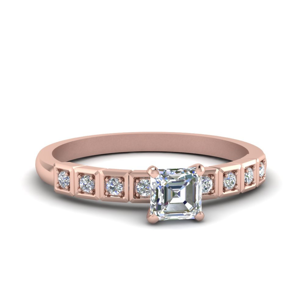 Asscher Cut 0.50 Ct. Diamond Engagement Ring
