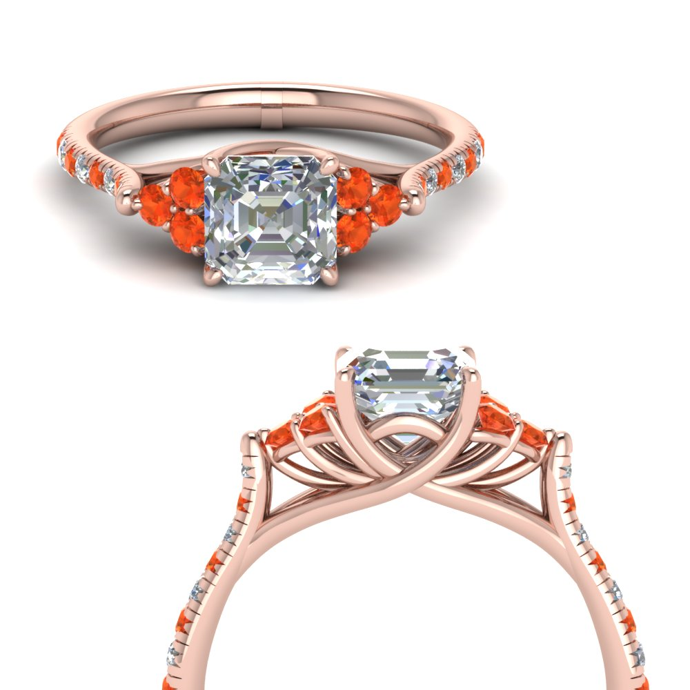 asscher-cut-petite-cathedral-diamond-engagement-ring-with-orange-topaz-in-FD123457ASRGPOTOANGLE3-NL-RG
