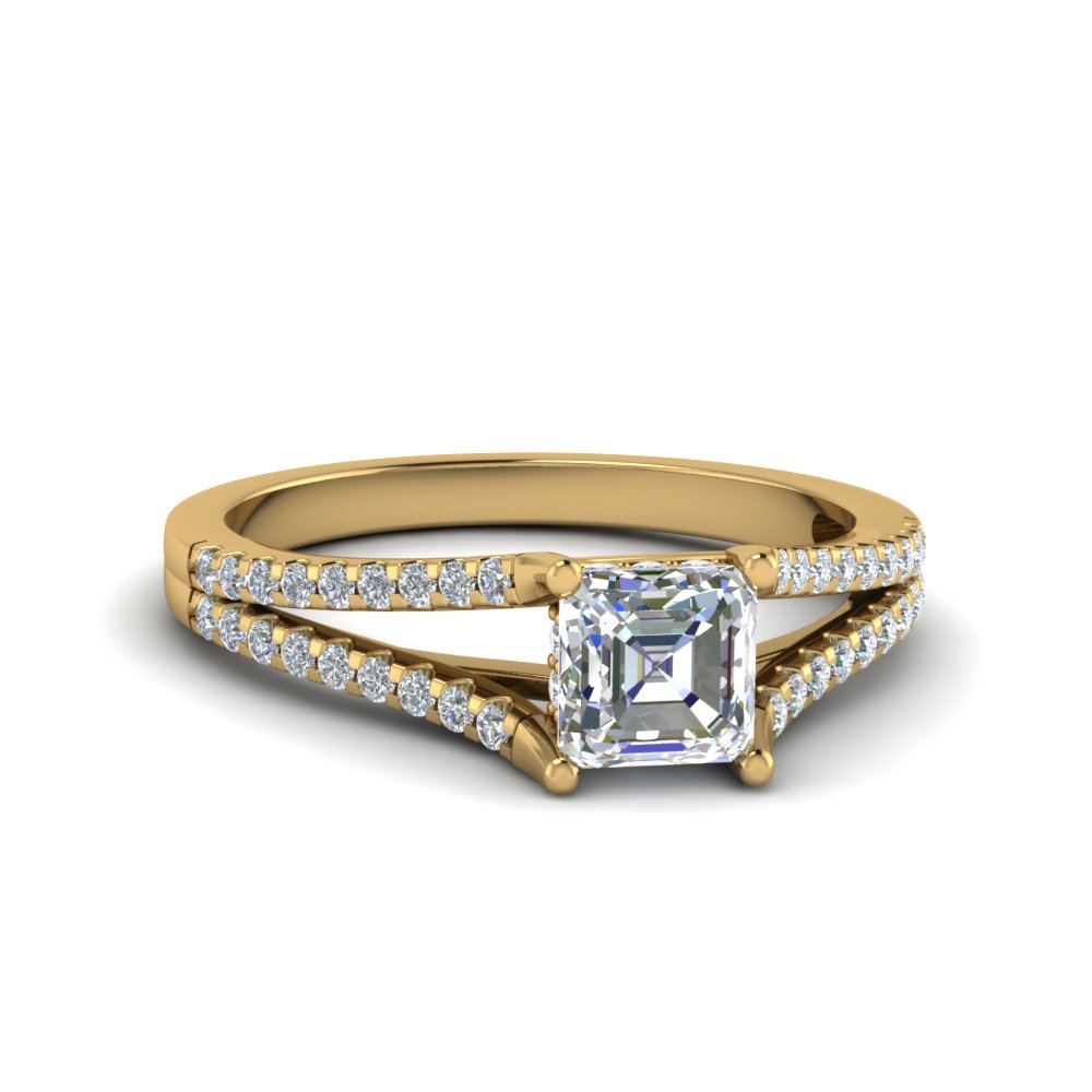 Asscher Cut Petite Diamond Rings