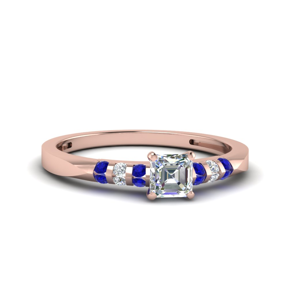Channel Bar Set Sapphire Ring