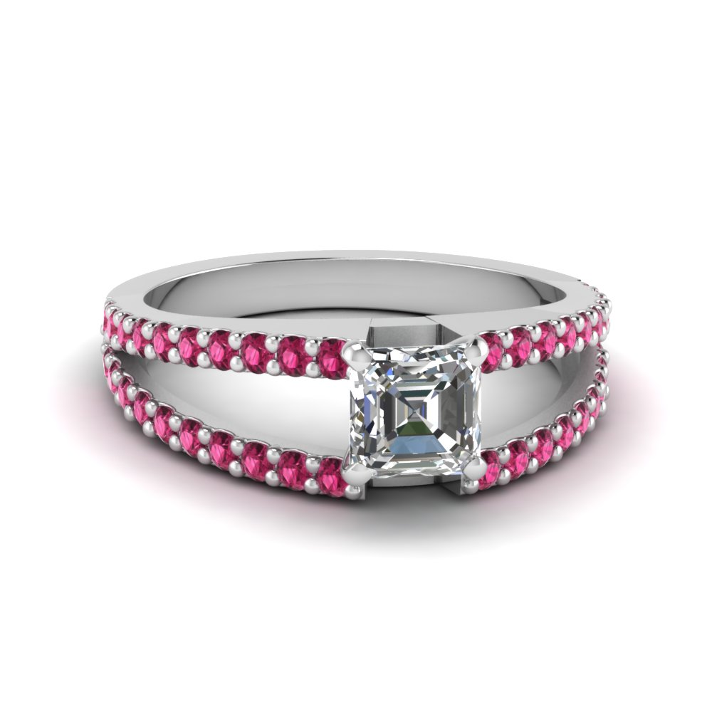 Modern Thin Band Pink Sapphire Ring