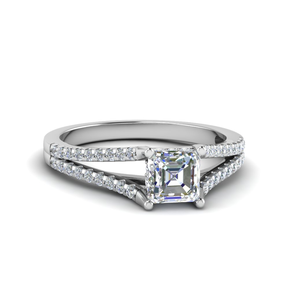 1/2 Karat Asscher Cut Engagement Ring Styles