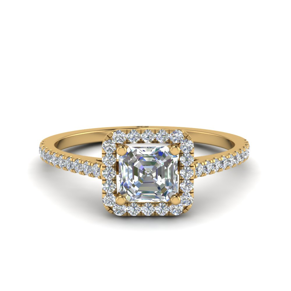 Asscher Halo Engagement Rings
