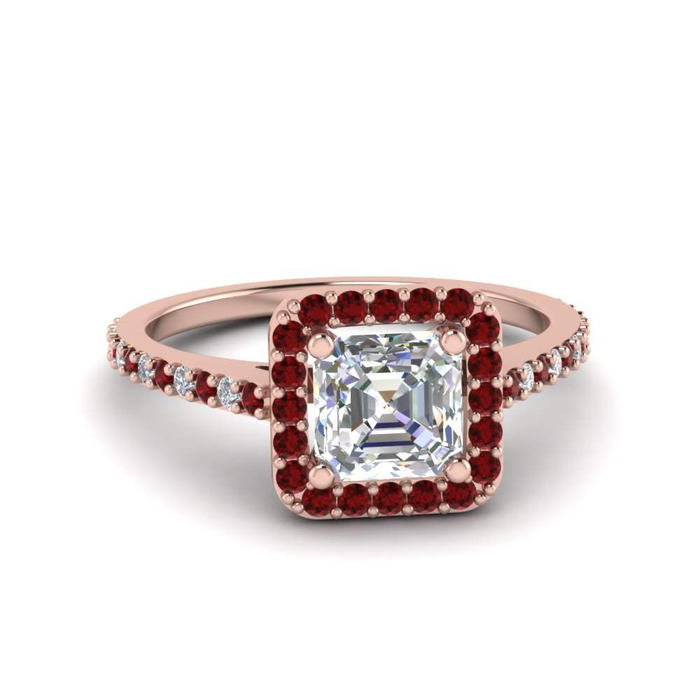 Simple Ruby Engagement Ring