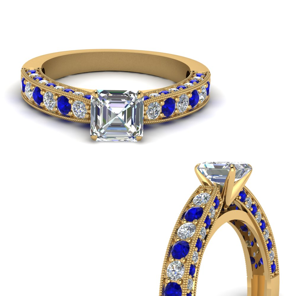 3-sided-vintage-asscher-diamond-engagement-ring-with-sapphire-in-FDENS1775ASRGSABLANGLE3-NL-YG