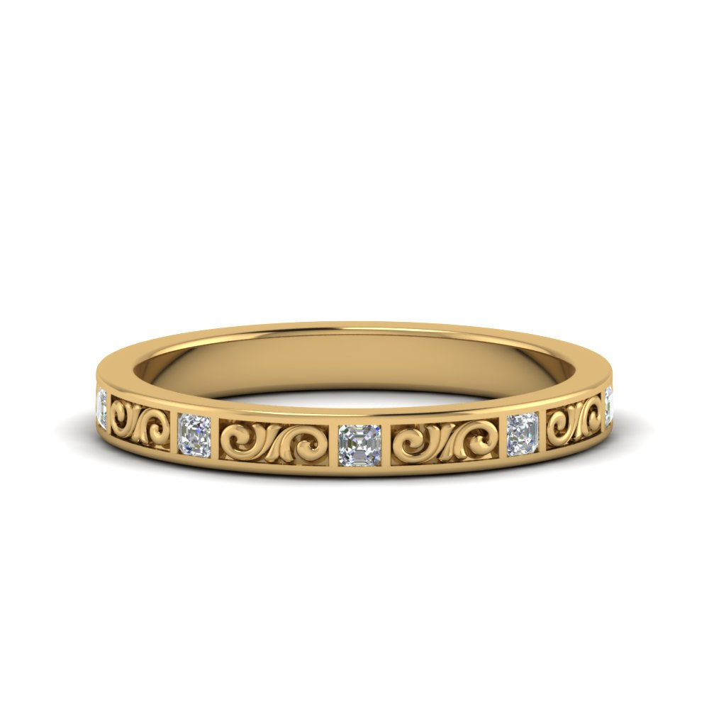 0.50 Ct. Filigree Engraved Band