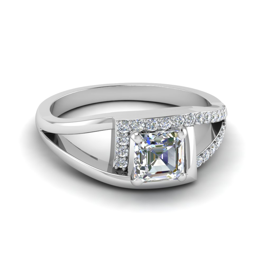 Split Lab Grown Diamond Halo Ring