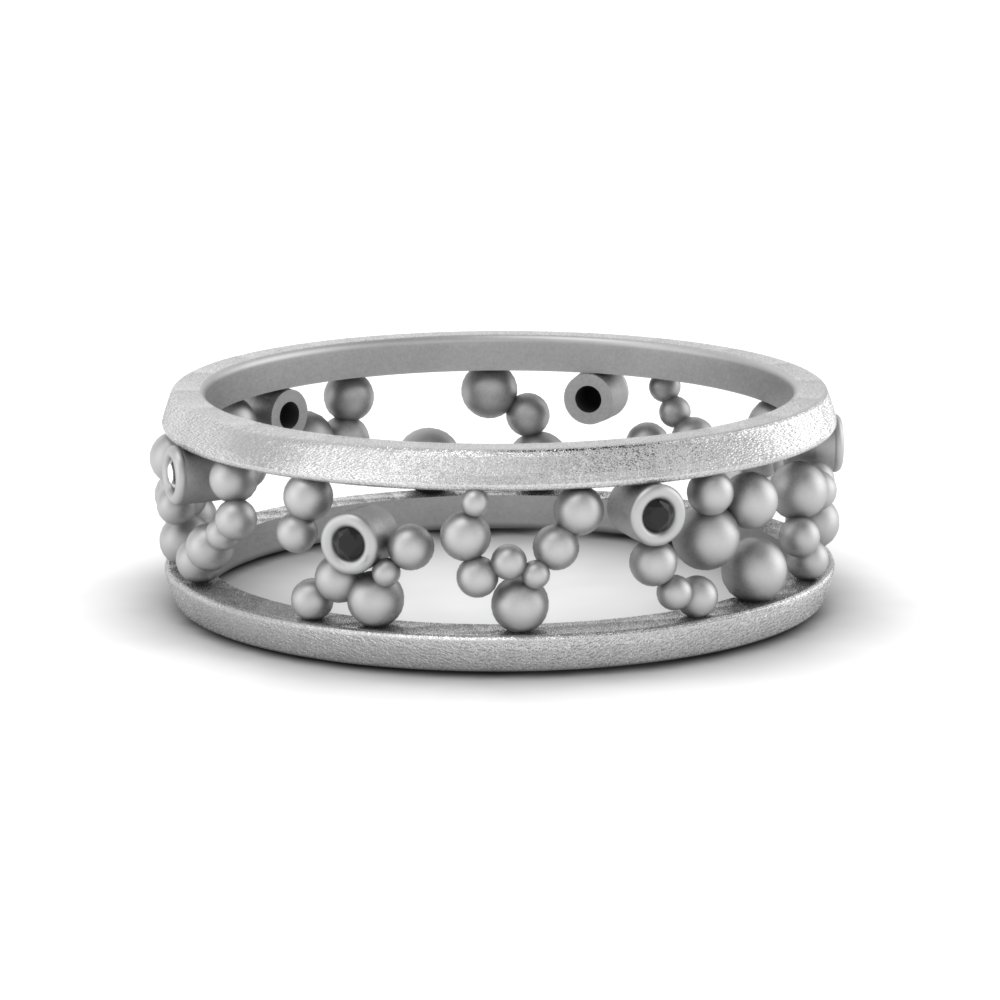 Platinum Asymmetrical Eternity Band