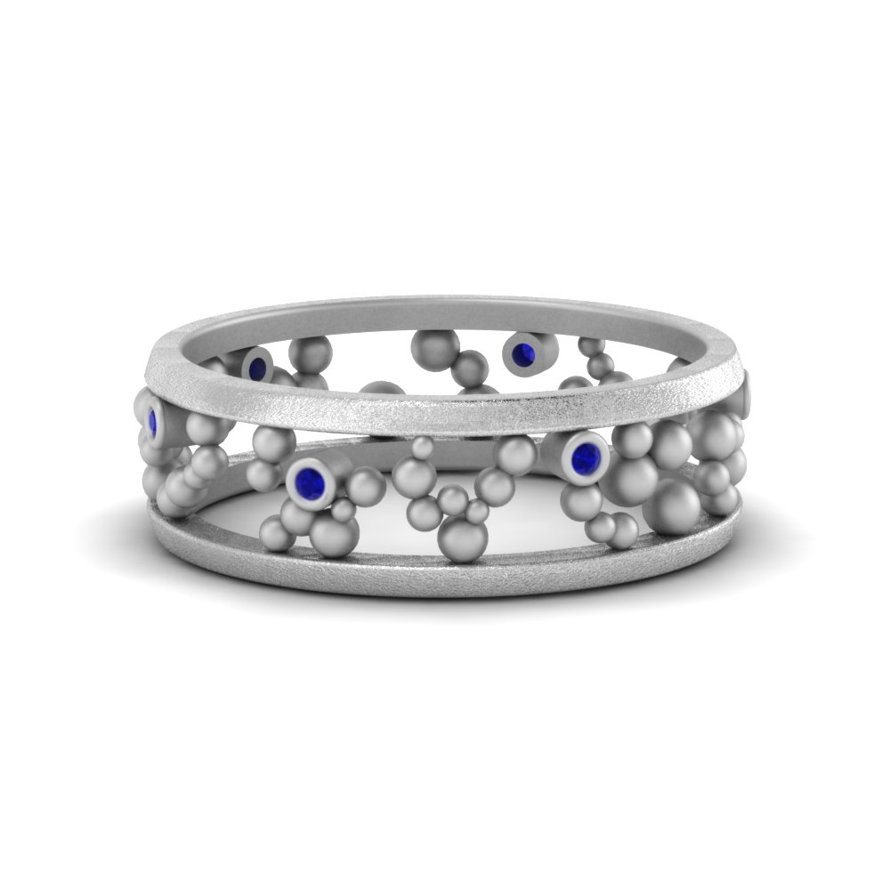 Sapphire Beaded Eternity Band