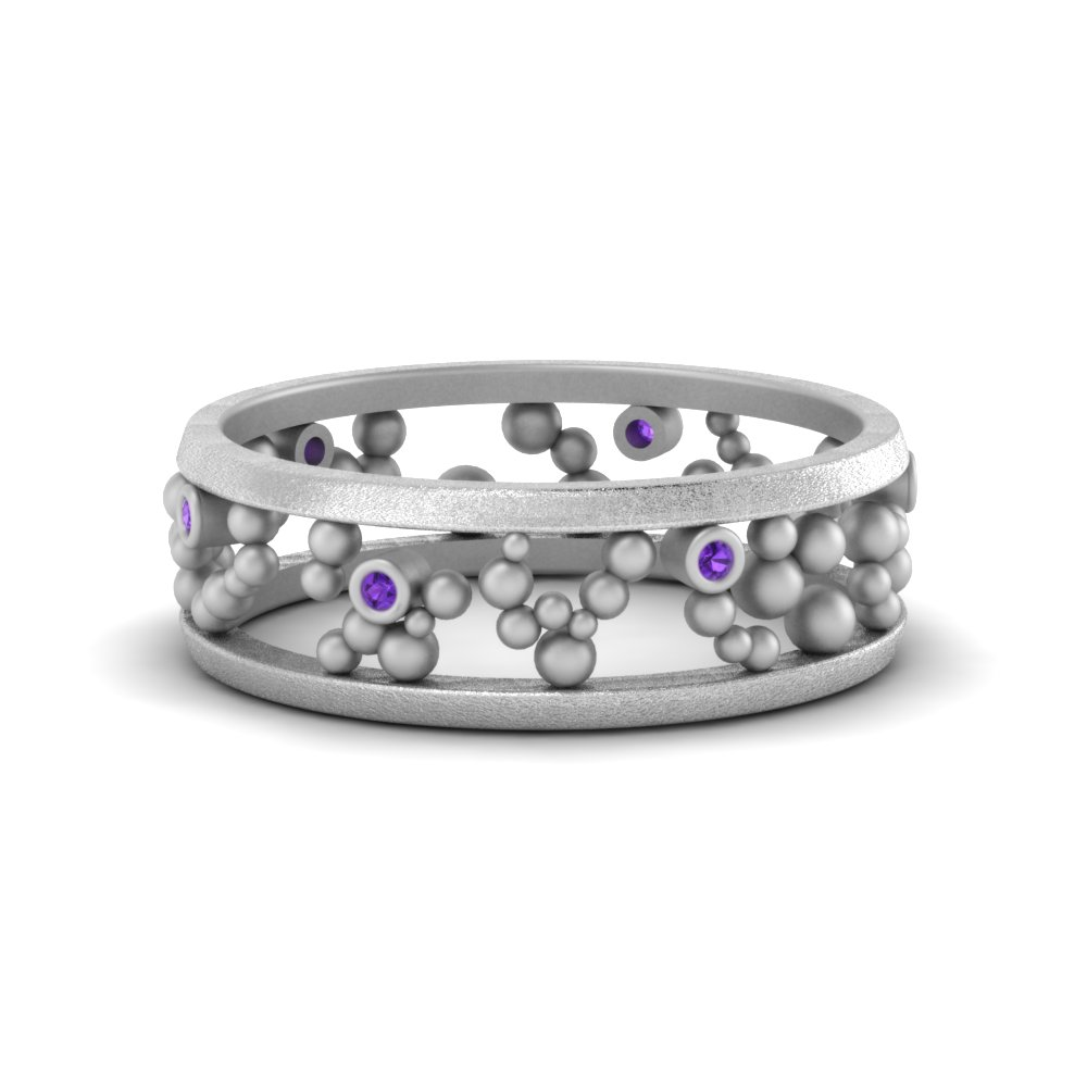 Classic Purple Topaz Eternity Band
