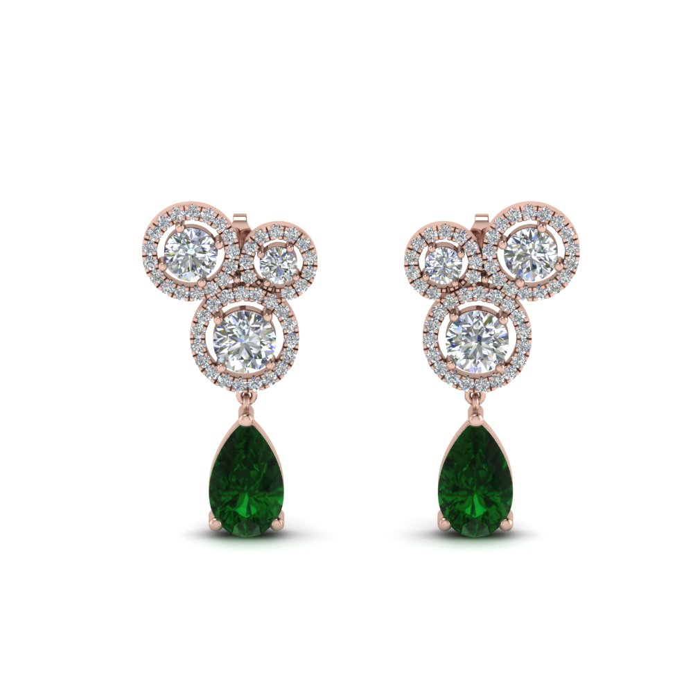 Asymmetry Halo Diamond Earring