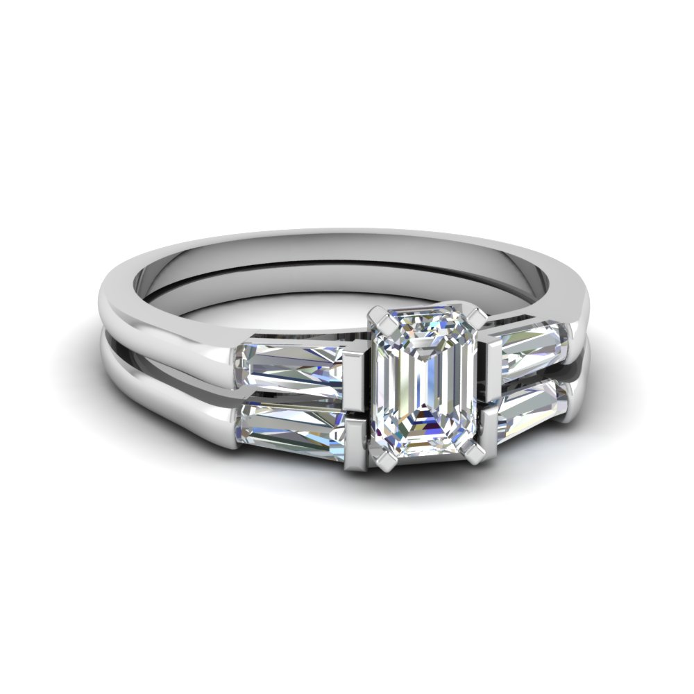 matching engagement gold asscher wedding rings baguette engagementdetails band cfm in diamond ring white horizontal