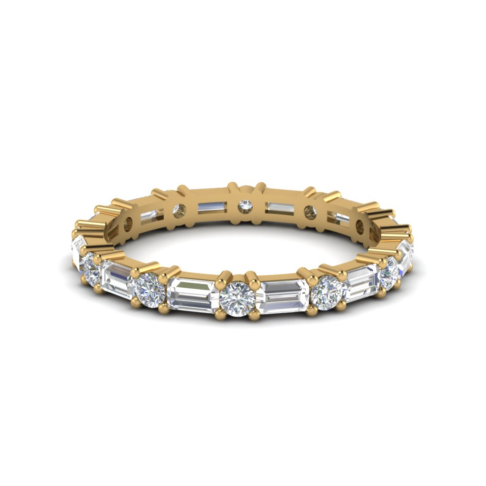 1.25 Ct. Baguette And Round Diamond Band