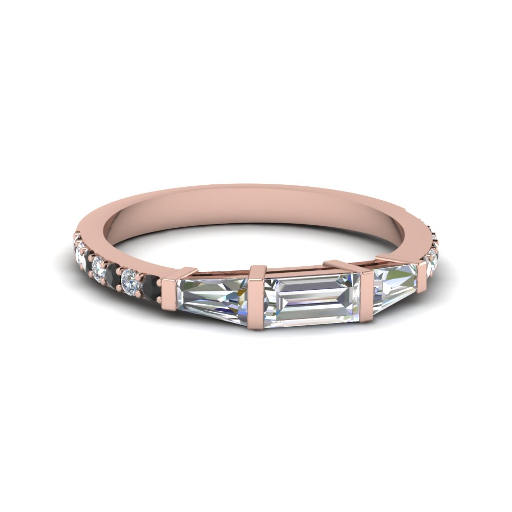 Baguette & Round Diamond Thin Band
