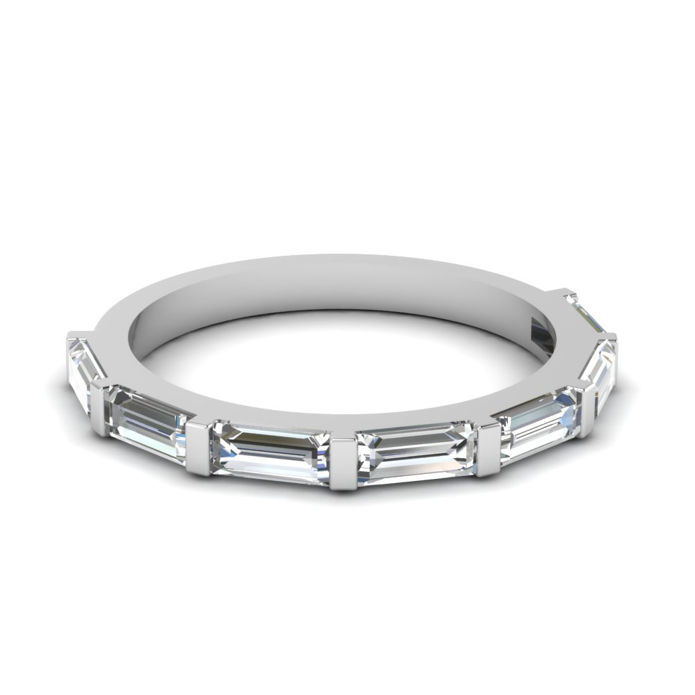 Baguette Brilliance Wedding Band