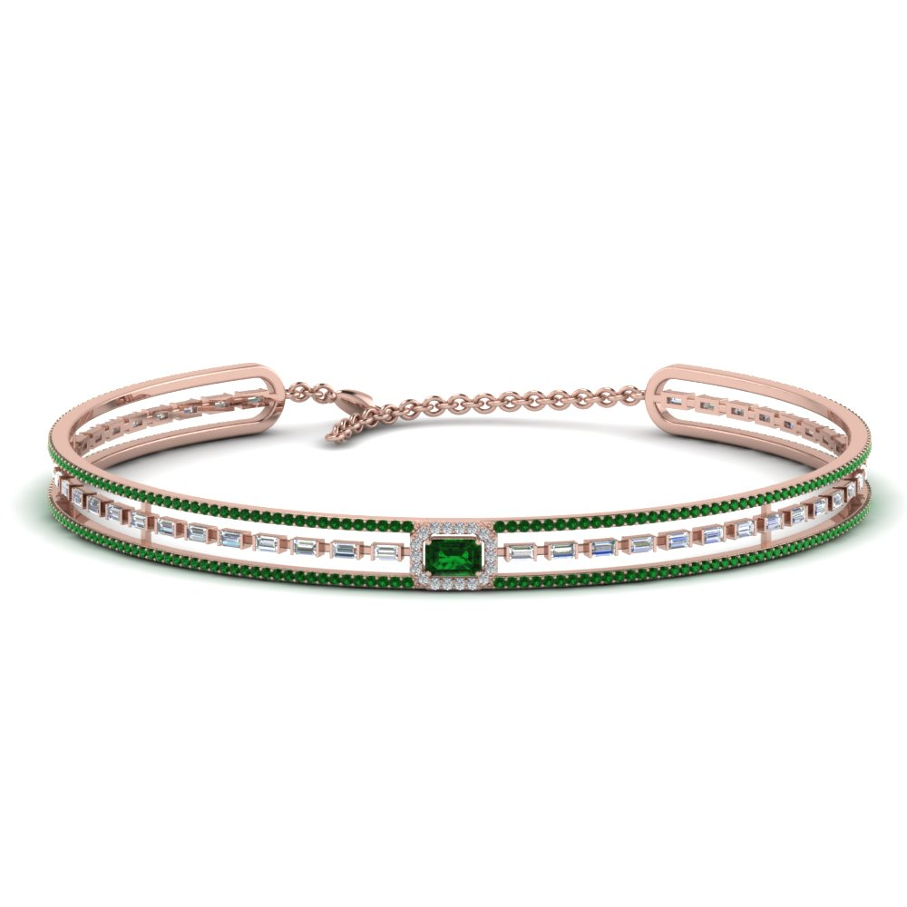 baguette-choker-diamond-necklace-with-emerald-in-FDNK9198GEMGR-NL-RG