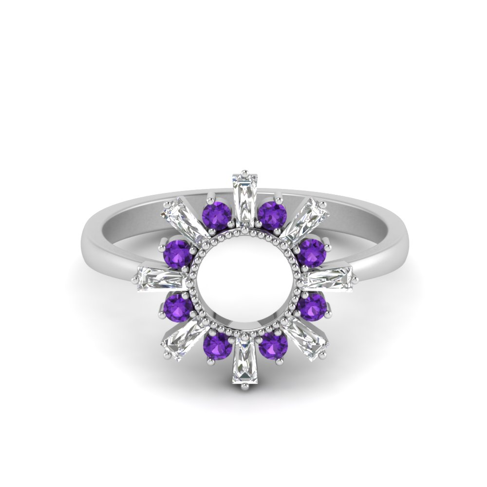 Sun Pattern Purple Topaz Ring