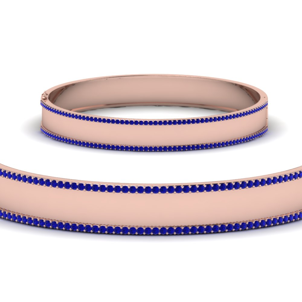 bangle-bracelet-with-sapphire-in-FDBRC9217GSABLANGLE2-NL-RG