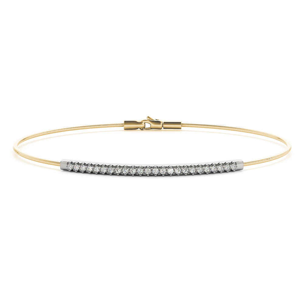 Italian Bar Diamond Delicate Bracelet