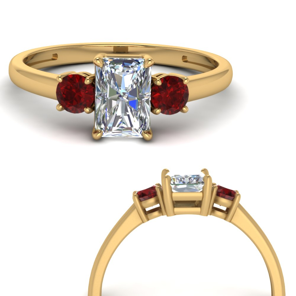 basket-3-stone-radiant-cut-lab diamond engagement-ring-with-ruby-in-FD9166RARGRUDRANGLE3-NL-YG