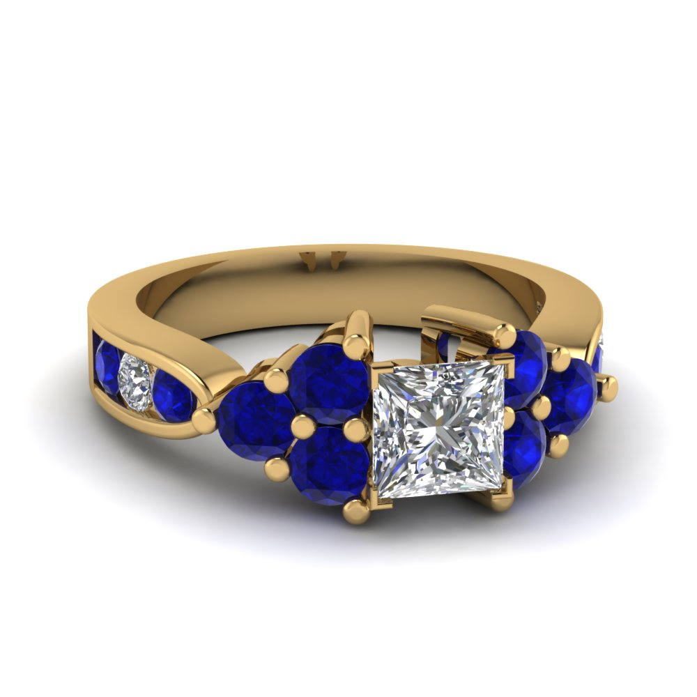 gold elegant lovely ring rose engagement sapphire carat rings champagne of ct