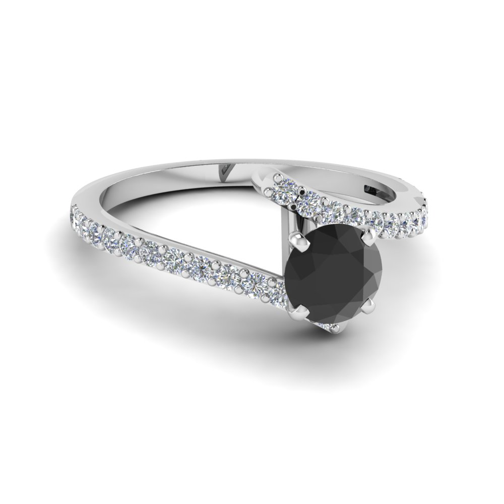 Beautiful Crossover Black Diamond Ring
