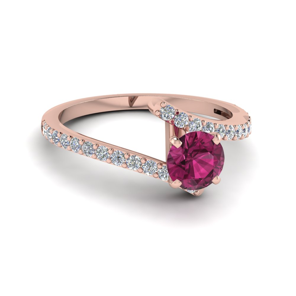 Beautiful Crossover Colored Ring