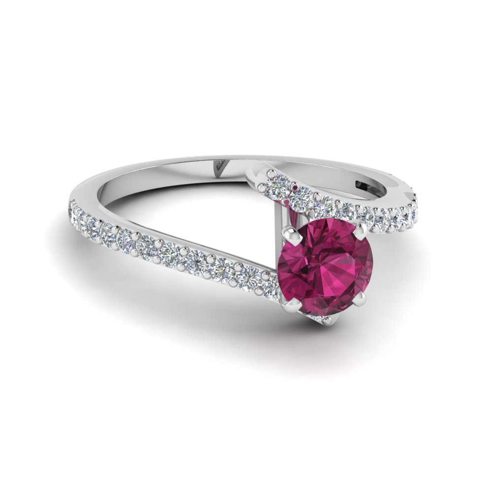 beautiful crossover pink sapphire engagement ring in FDENS3007RORGSP NL WG