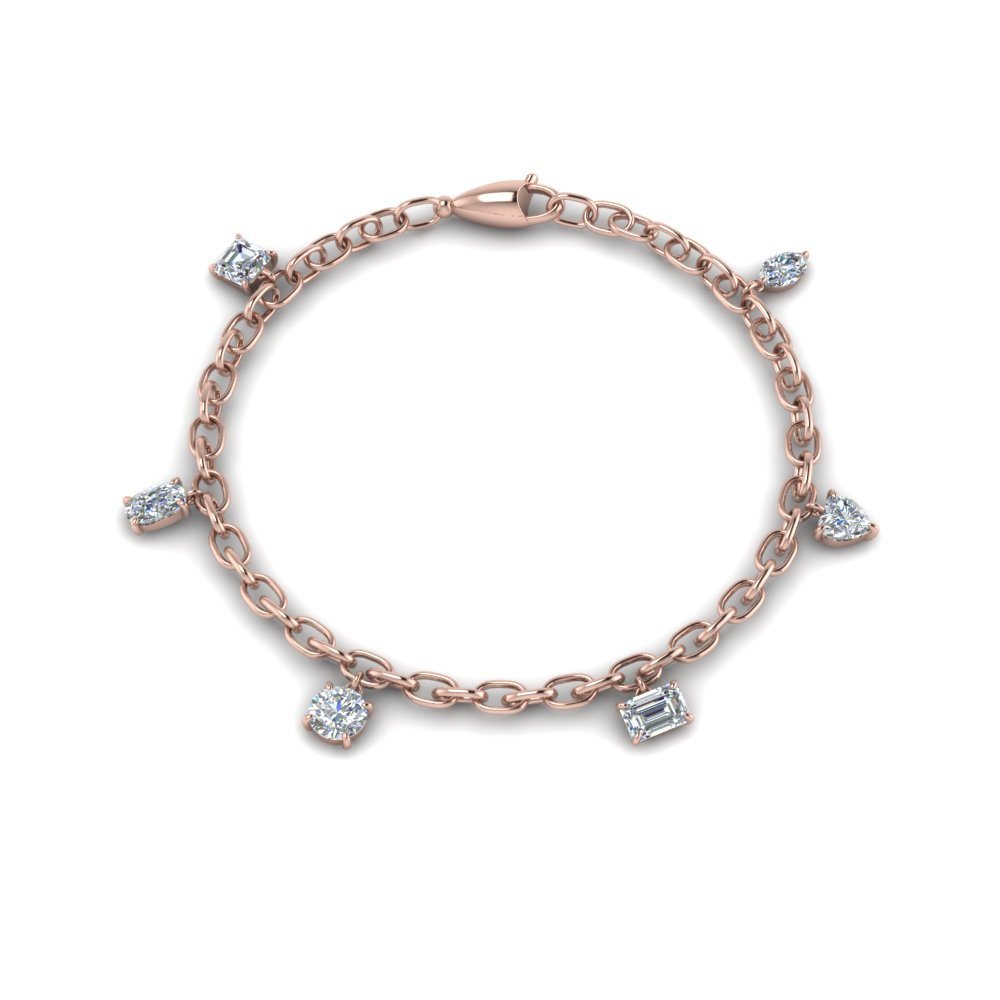 Beautiful Diamond Charm Bracelet