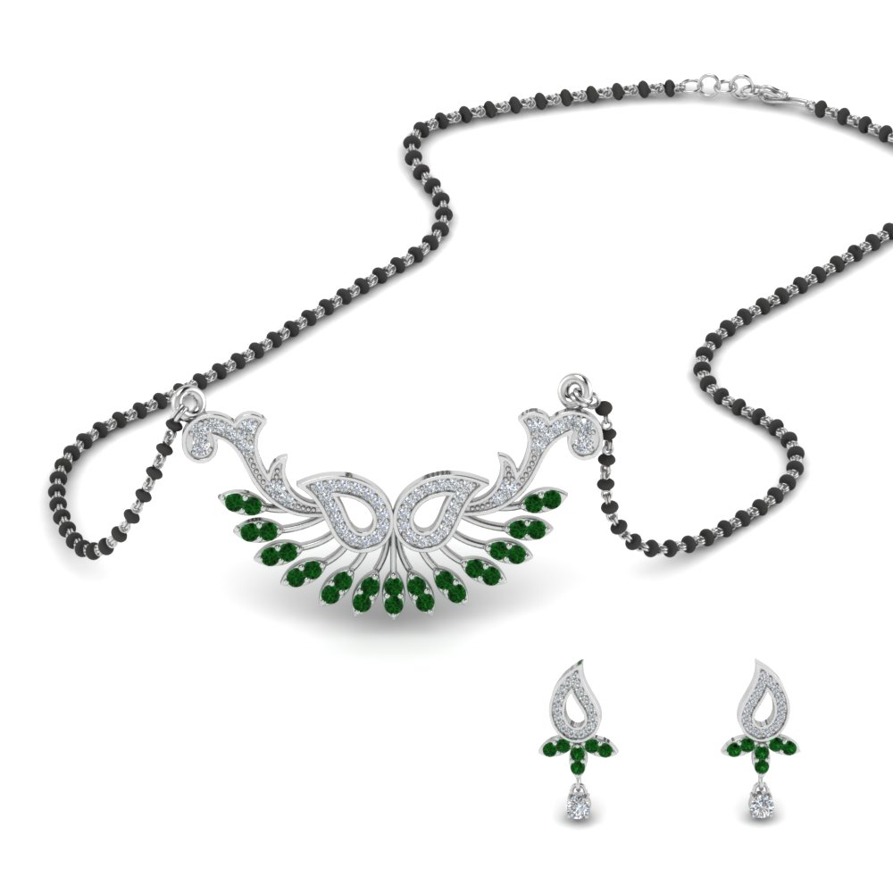 beautiful-diamond-mangalsutra-earring-set-with-emerald-in-MGS9077GEMGR-NL-WG