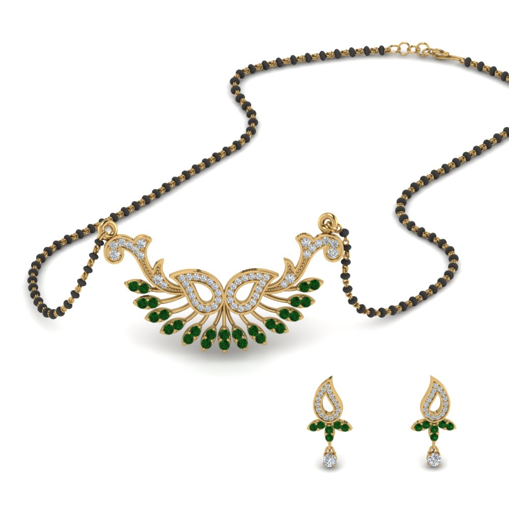 Beautiful Mangalsutra Earring Set