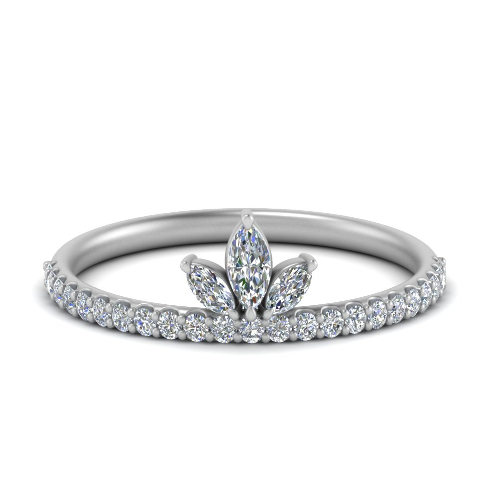 beautiful diamond wedding ring for her in 14K white gold FD123821 NL WG