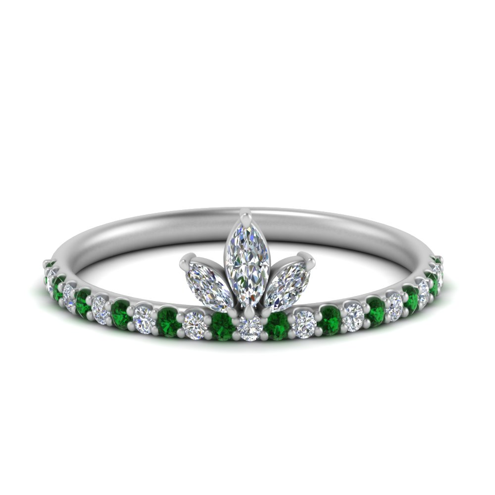 Emerald Wedding Ring For Her