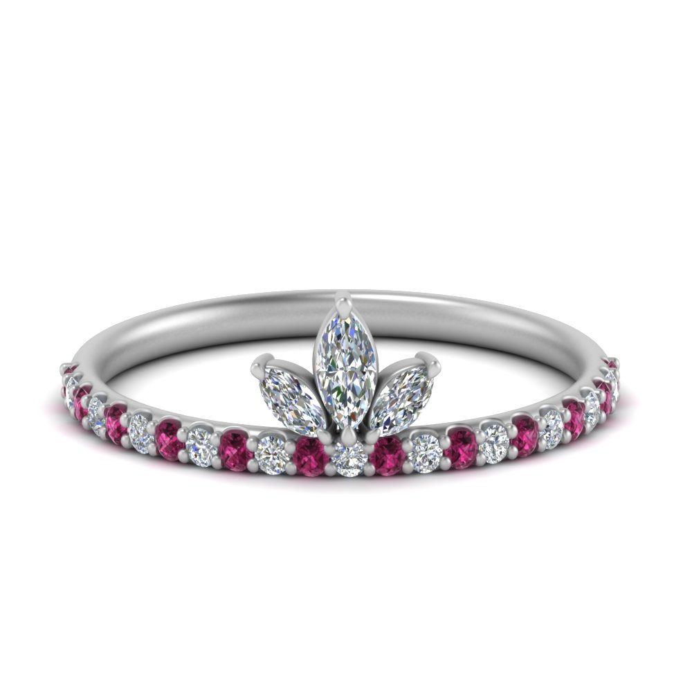 Pink Sapphire Wedding Ring For Her