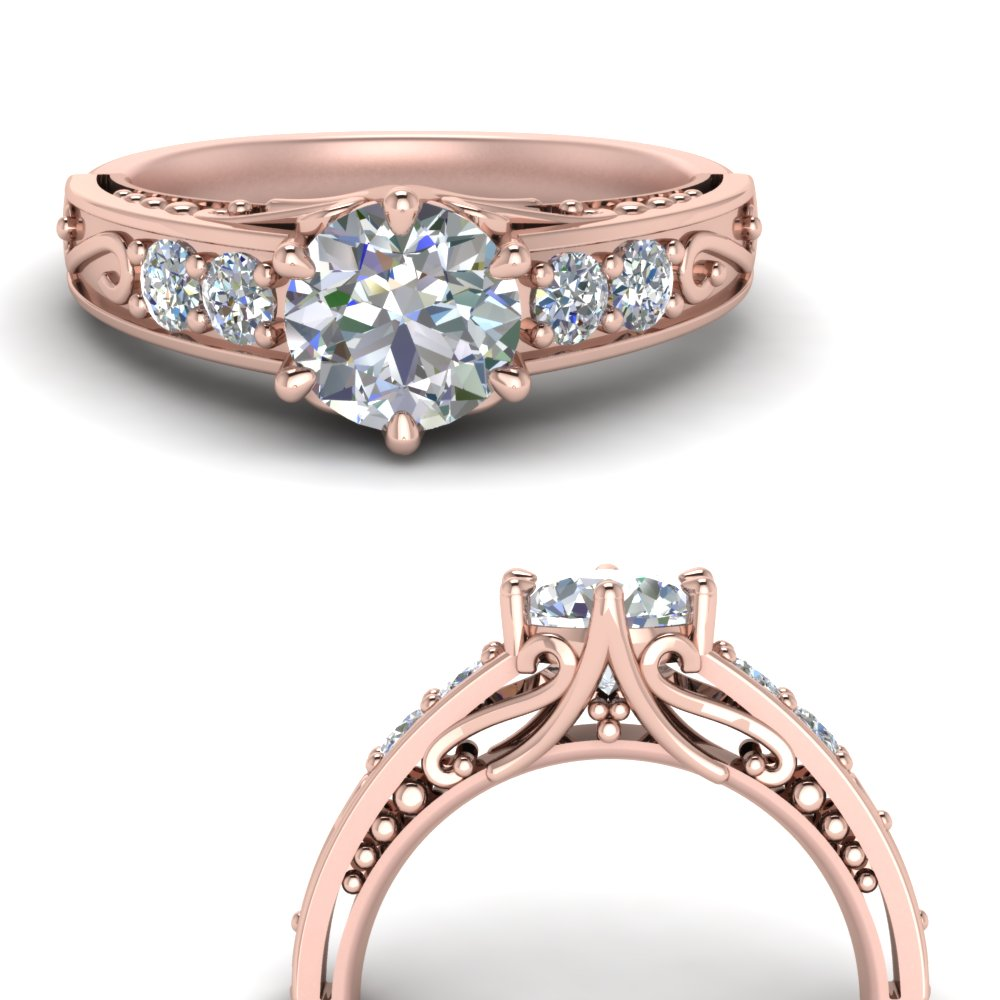 beautiful filigree 6 prong diamond engagement ring in FD9143RORANGLE3 NL RG.jpg