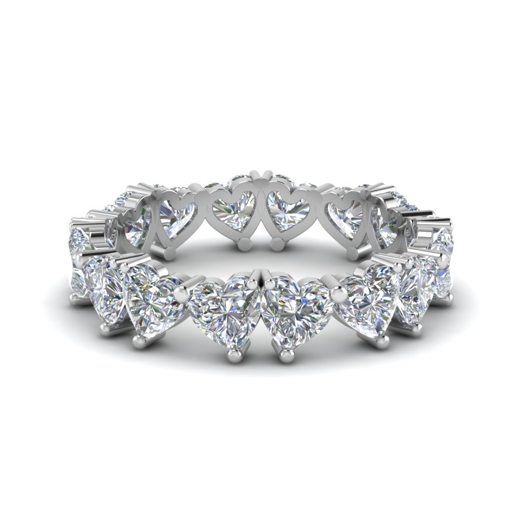 4 Ct. Heart Diamond Eternity Band