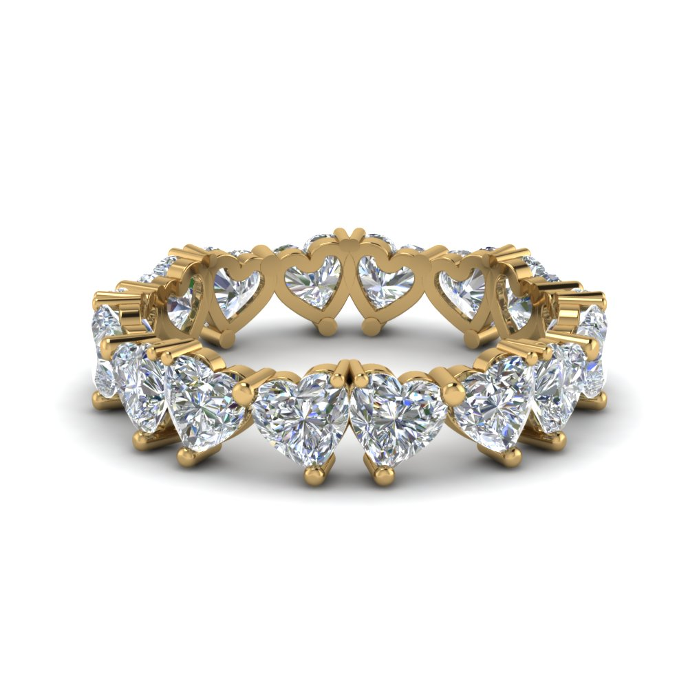 Heart Diamond Eternity Band 4 Carat