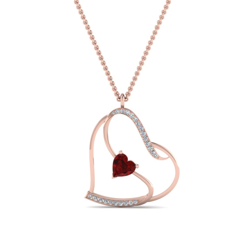 Beautiful Heart Diamond Pendant