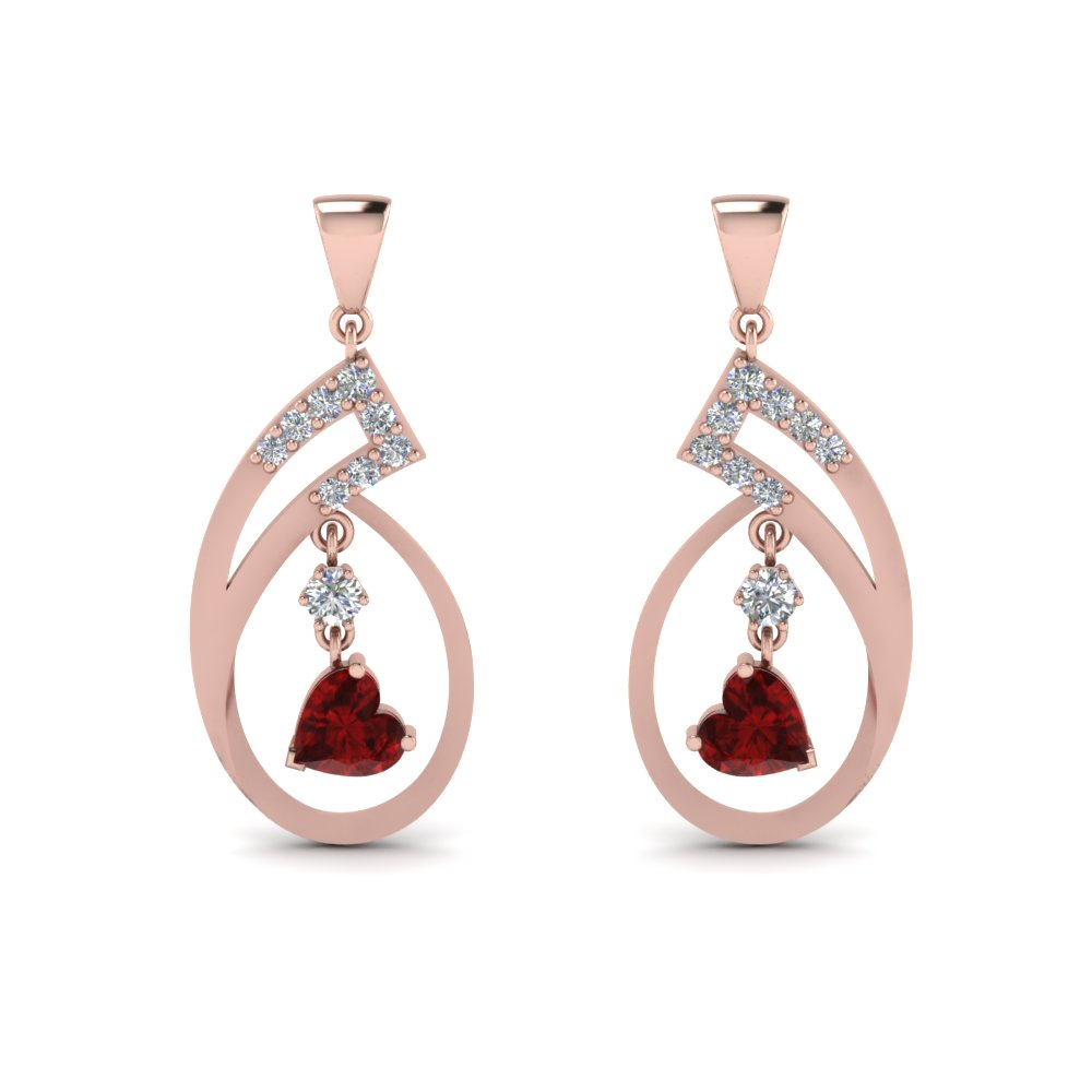 square white flola fashion stone arrival crystal in earrings item jewelry gold and zircon from new dangle for wedding blue drop long rose women earring red
