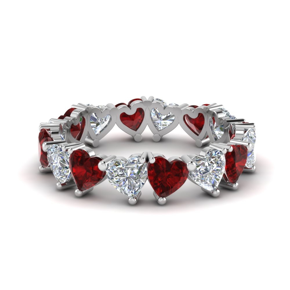 Beautiful Heart Eternity Band 4 Carat
