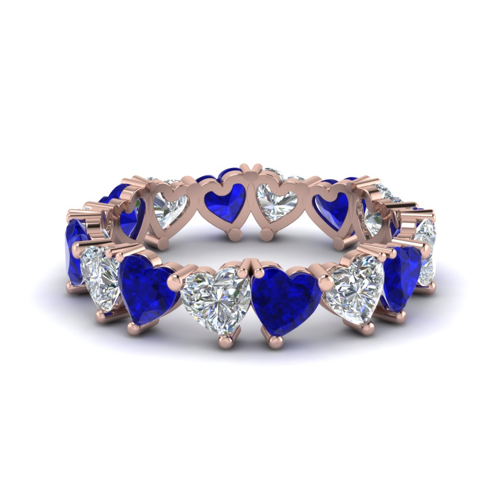 Sapphire Heart Eternity Band