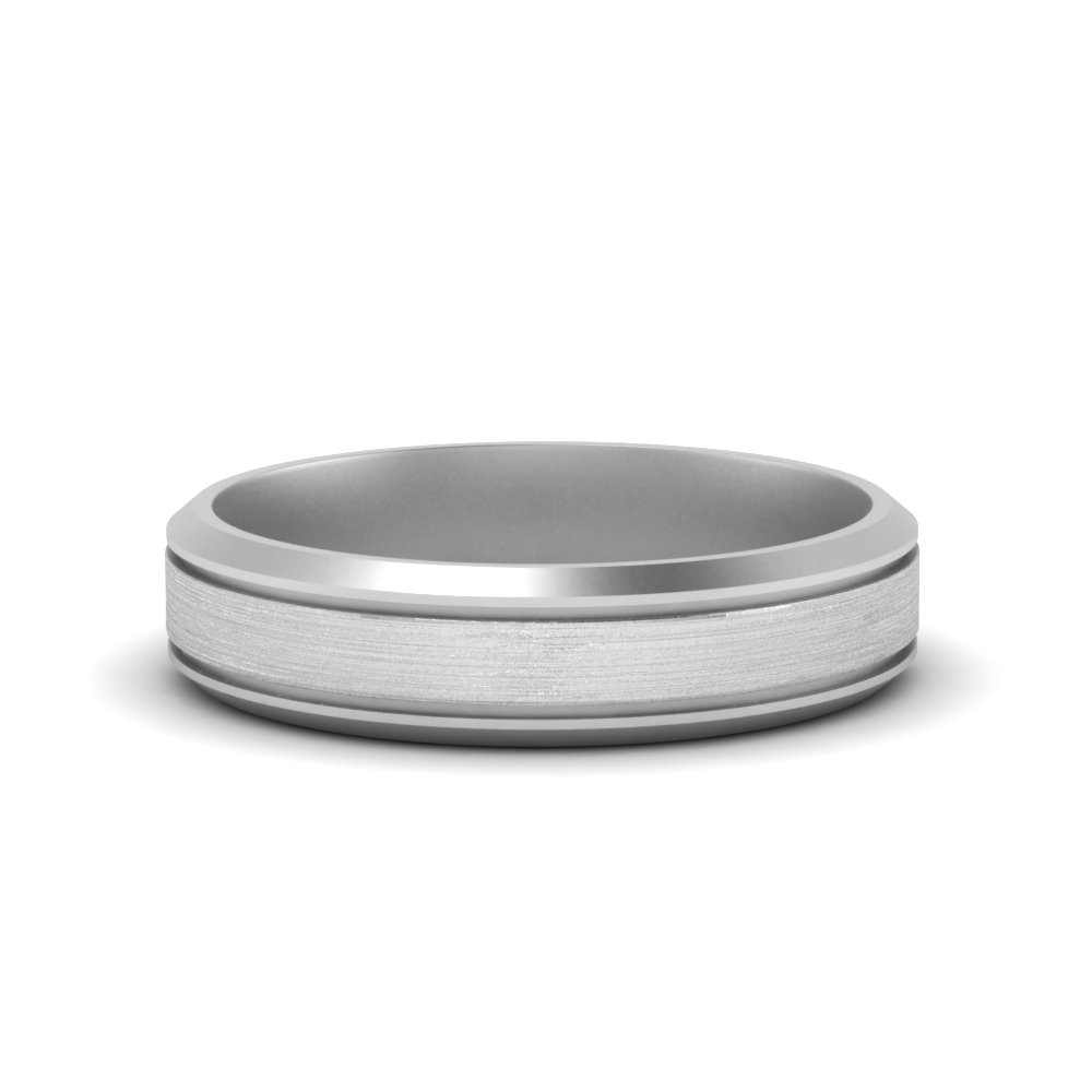 bevealed inlay mens wedding band in FDM8566B NL WG