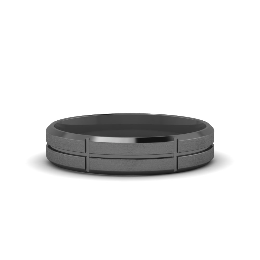 Black Gold Men Wedding Band