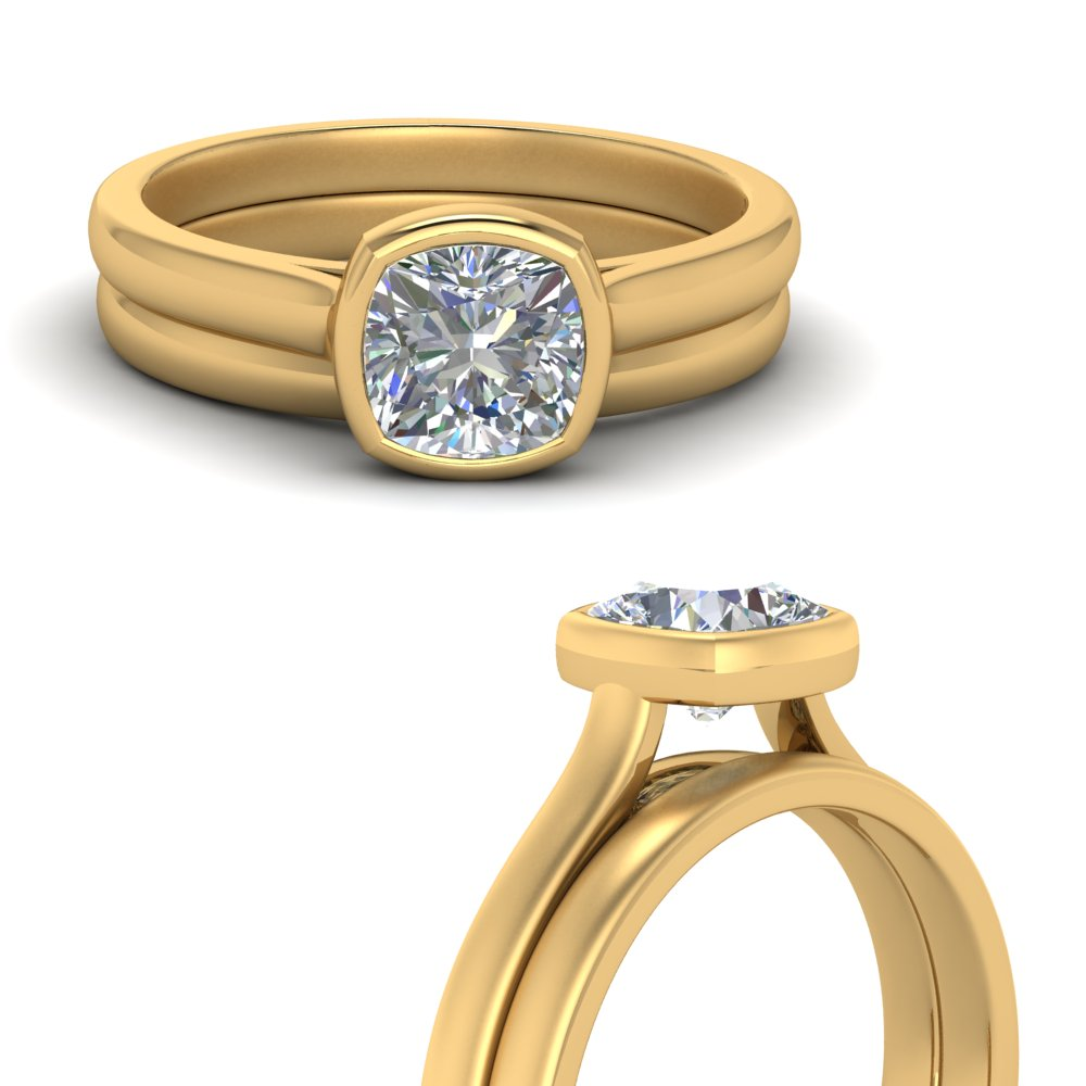 bezel-cushion-cut-solitaire-wedding-ring-set-in-FDENR9501CUANGLE3-NL-YG