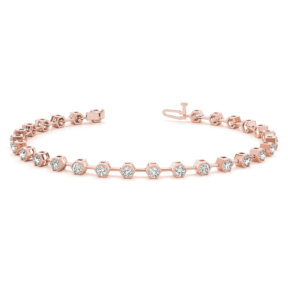Bezel Set Diamond Link Bracelet