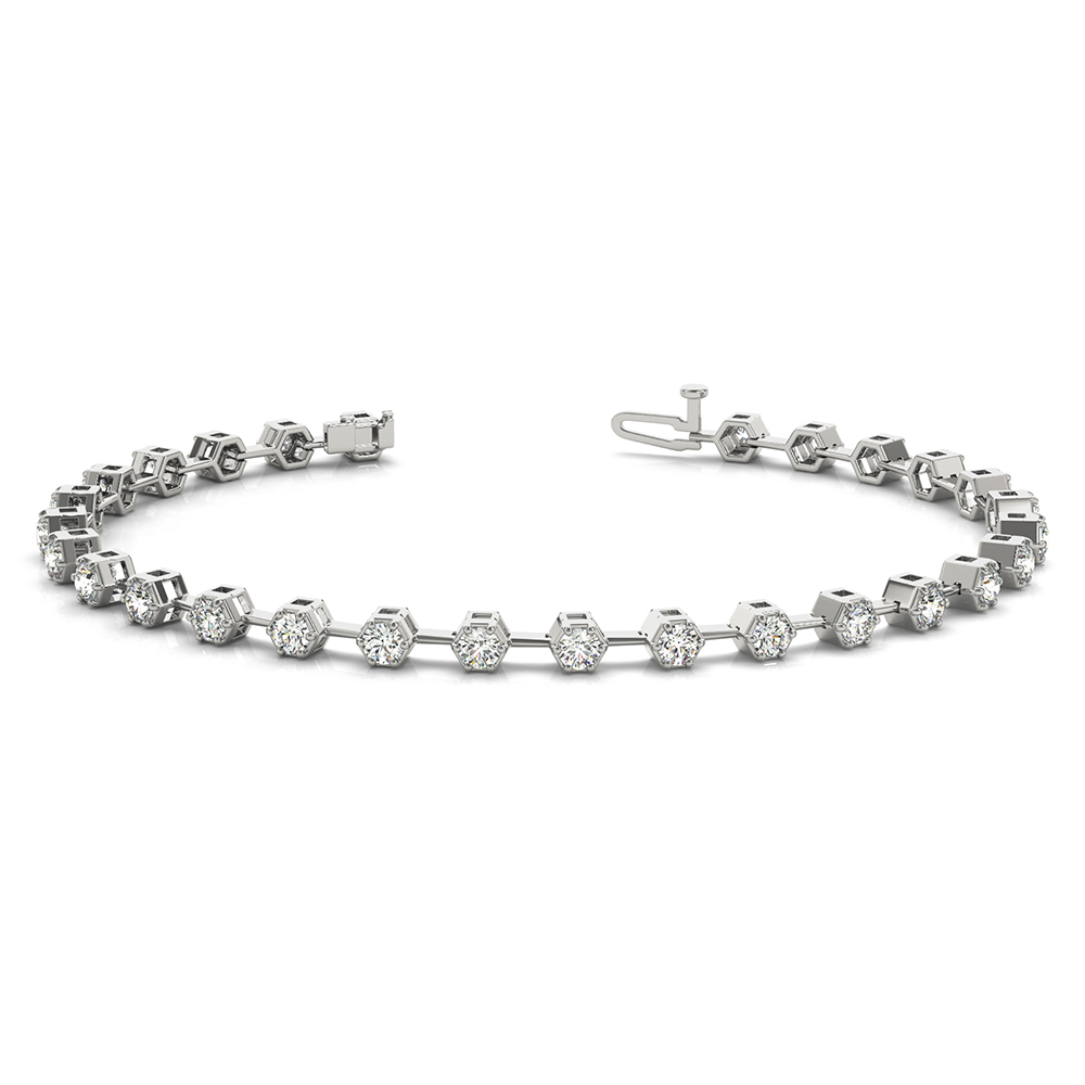 Link Bracelet For Women 18K White Gold