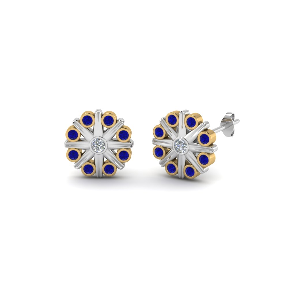 bezel-flower-stud-diamond-earring-2-tone-with-sapphire-in-FDEAR8633GSABL-NL-YG